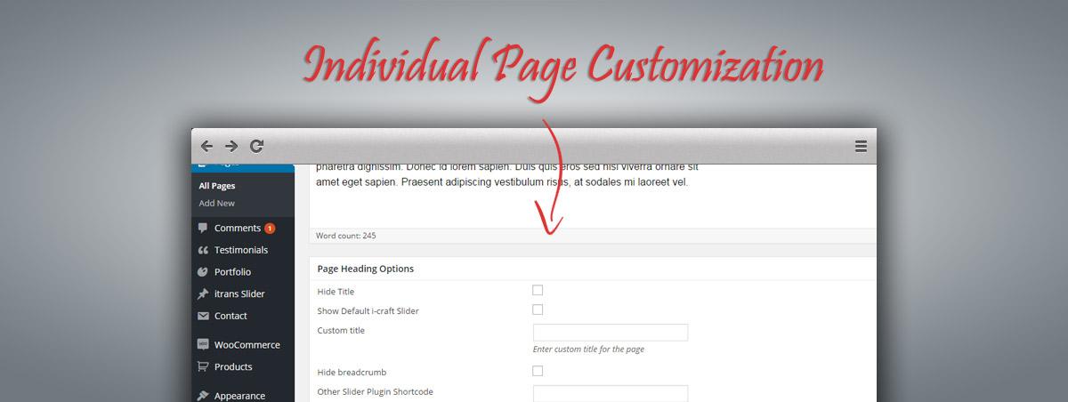 Individual Page Customization